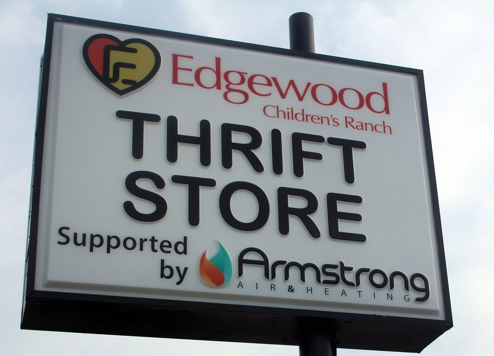 Edgewood Ranch Thrift Store Sign
